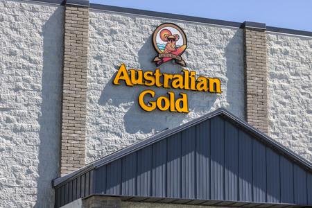 Indianapolis - Circa July 2017: Australian Gold Headquarters. Australian Gold manufactures sun tanning and sun protection products I Editöryel