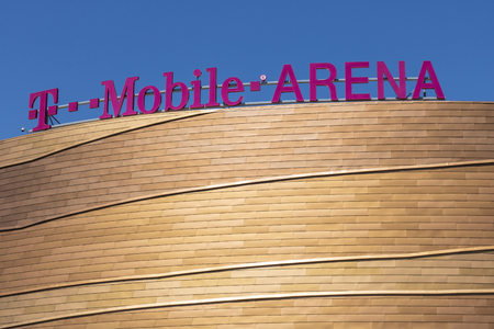 Las Vegas - Circa July 2017: The T-Mobile Arena Located on the Strip. T-Mobile Arena will be the home of the NHLs Golden Knights III Editorial
