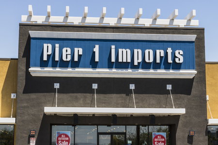 Las Vegas - Circa July 2017: Pier 1 Imports Retail Strip Mall Location. Pier 1 Imports Home Furnishings and Decor IV