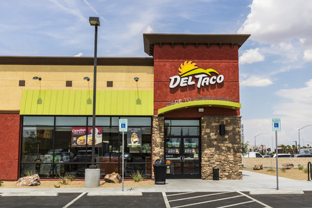 Las Vegas - Circa July 2017: Del Taco Fast Food Location. Del Taco specializes in Mexican and American food V