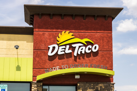 Las Vegas - Circa July 2017: Del Taco Fast Food Location. Del Taco specializes in Mexican and American food IV Editorial