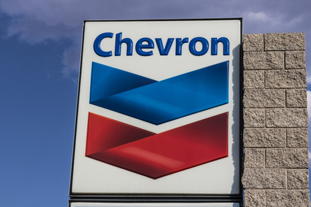 Las Vegas - Circa July 2017: Chevron Retail Gas Station. Chevron traces its roots to the Standard Oil Corporation III Redactioneel