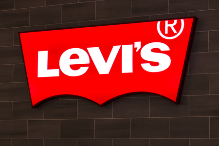 levi: Las Vegas - Circa July 2017: Levi Strauss & Co. Signage and Logo. Levis have been an American pants and clothing staple since 1853 I