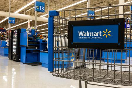 Las Vegas - Circa July 2017: Walmart Retail Location. Walmart is an American Multinational Retail Corporation XIV