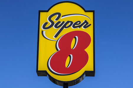 hotel chain: Indianapolis - Circa July 2017: Super 8 Motel. Super 8 is a Subsidiary of Wyndham Worldwide II