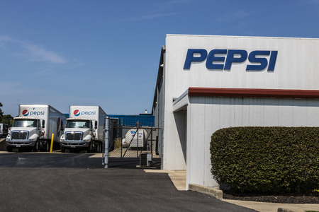 Logansport - Circa August 2017: Pepsi Bottling Signage. Pepsi is one of the largest beverage producers in the world IV