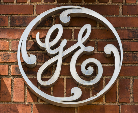 Ft. Wayne - Circa August 2017: General Electric Factory. GE divisions include aviation, energy, healthcare and lighting XIV Editorial