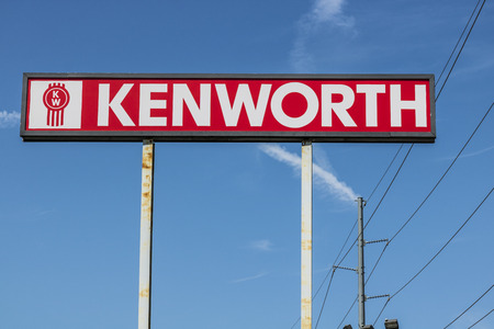 Ft. Wayne - Circa August 2017: Signage and Logo of a Kenworth Big Rig Semi Tractor Trailer Dealership. Kenworth is a division of PACCAR II