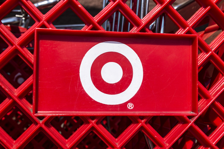 Indianapolis - Circa August 2017: Target Retail Store Baskets. Target Sells Home Goods, Clothing and Electronics XIX Editorial