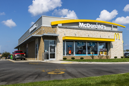 mcdonalds: Kokomo - Circa August 2017: McDonalds Restaurant Location. McDonalds is a Chain of Hamburger Restaurants XIII
