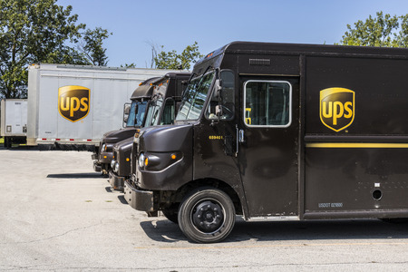 Kokomo - Circa August 2017: United Parcel Service Delivery Truck. UPS is the Worlds Largest Package Delivery Company VI