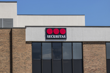Indianapolis - Circa August 2017: Local Securitas Security location. Headquartered in Stockholm, Securitas provides event and cyber security services II