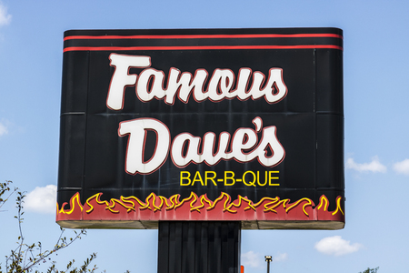 Indianapolis - Circa August 2017: Famous Daves Bar-B-Que Restaurant location. Famous Daves has been listed on the NASDAQ since 1996 I