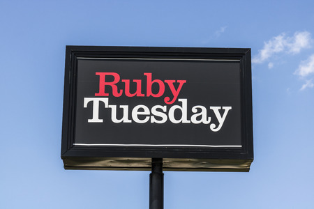 Indianapolis - Circa August 2017: Ruby Tuesday Casual Restaurant Location. Ruby Tuesday is famous for its Salad Bar IV Editorial