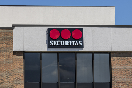 Indianapolis - Circa August 2017: Local Securitas Security location. Headquartered in Stockholm, Securitas provides event and cyber security services I Editorial
