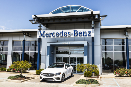 Indianapolis - Circa August 2017: Mercedes-Benz Dealership. Mercedes-Benz is a global automobile manufacturer and a division of Daimler AG Editorial
