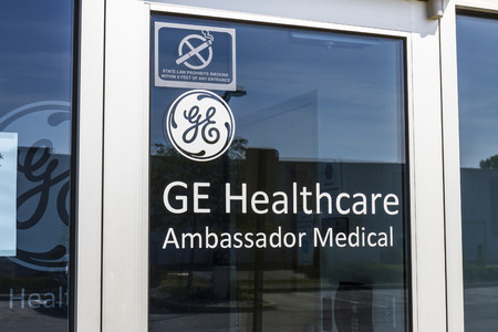 Indianapolis - Circa September 2017: Ambassador Medical headquarters, a provider of refurbished ultrasound equipment and a division of GE Healthcare