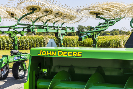 Indianapolis - Circa August 2017: John Deere Dealership. Deere manufactures agricultural, construction, and forestry machinery