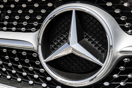 Indianapolis - Circa August 2017: Mercedes-Benz Logo. Mercedes-Benz is a global automobile manufacturer and a division of Daimler AG Editorial