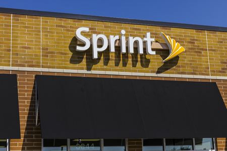 ジオンズビル - 2017 年 9 月頃: スプリント ワイヤレス小売店。スプリントは子会社の日本のソフトバンク グループ株式会社 VIII です。