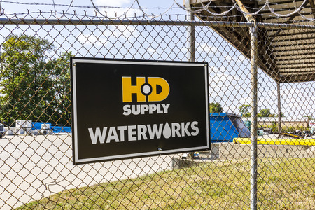 Indianapolis - Circa September 2017: HD Supply water products distributor. HD Supply is one of the largest industrial distributors in North America I