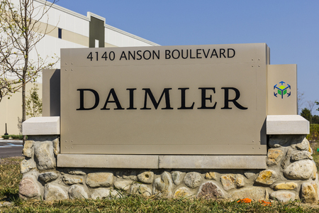 Whitestown - Circa September 2017: Daimler Trucks North America Distribution Center. Daimler Trucks is formerly Freightliner Corporation and owned by Daimler AG II Editorial