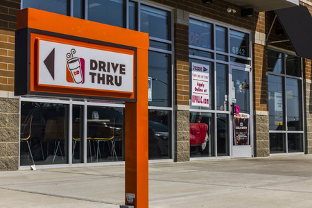 Zionsville - Circa September 2017: Dunkin Donuts Retail Location. Dunkin is Americas favorite every day, all-day stop for coffee and baked goods X