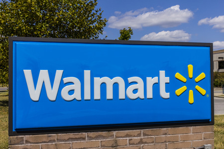 Indianapolis - Circa September 2017: Walmart Retail Location. Walmart is an American Multinational Retail Corporation XV