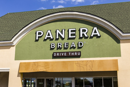 Indianapolis - Circa September 2017: Panera Bread Retail Location. Panera is a Chain of Fast Casual Restaurants Offering Free WiFi XI