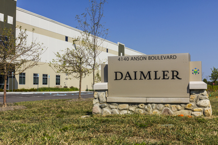 Whitestown - Circa September 2017: Daimler Trucks North America Distribution Center. Daimler Trucks is formerly Freightliner Corporation and owned by Daimler AG I