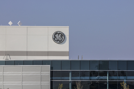 Lafayette - Circa September 2017: General Electric Factory. GEs new CEO is preparing job cuts in a bid to reduce costs XIV