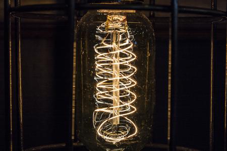 Vintage antique filament light bulb. Lightbulb for background or abstract I