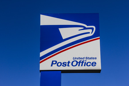 Indianapolis - Circa September 2017: USPS Post Office Location. The USPS is Responsible for Providing Mail Delivery