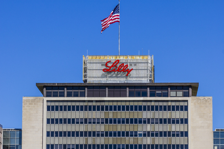 Indianapolis - Circa September 2017: Eli Lilly and Company World Headquarters. Lilly makes Medicines and Pharmaceuticals