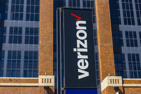 Indianapolis - Circa September 2017: Signage and logo of Verizon Wireless. Verizon is the largest U.S. wireless communications service provider