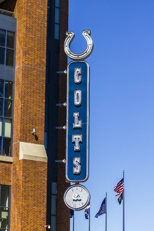 Indianapolis - Circa September 2017: Indianapolis Colts Pro and souvenir shop at Lucas Oil Stadium Editorial