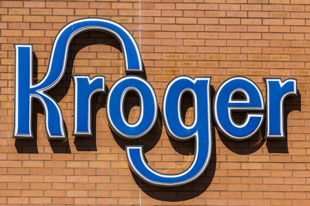 Indianapolis - Circa October 2017: Kroger Supermarket. The Kroger Co. is One of the Worlds Largest Grocery Retailers V