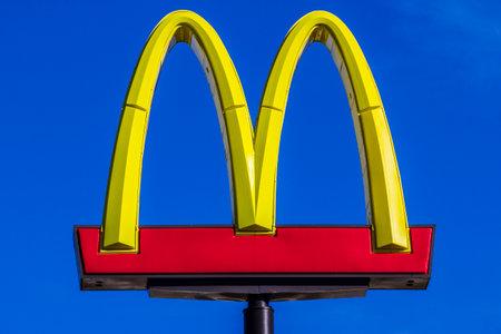 Indianapolis - Circa October 2017: McDonalds Restaurant Location. McDonalds is a Chain of Hamburger Restaurants XIX