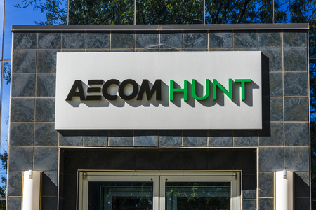 Indianapolis - Circa October 2017: AECOM Hunt Construction Group headquarters. AECOM Hunt is a builder of large projects including sports stadiums airports and medical facilities II