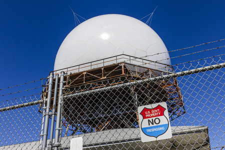 Indianapolis - Circa October 2017: FAA Air Traffic Control Doppler Radar Dome. ATC Radar tracks all airborne flights in the US II Editorial