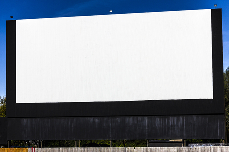 Old Time Drive-In Movie Theater with blank white screen for copy space or advertising II