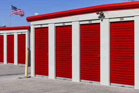 Numbered self storage and mini storage garage units II
