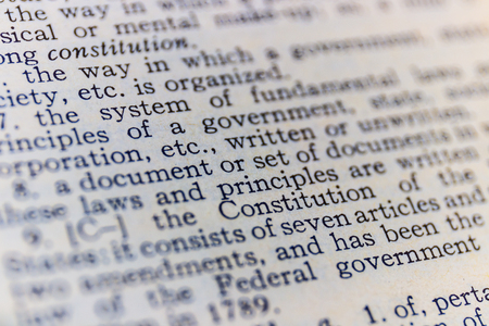 Constitution dictionary definition closeup II Stock Photo
