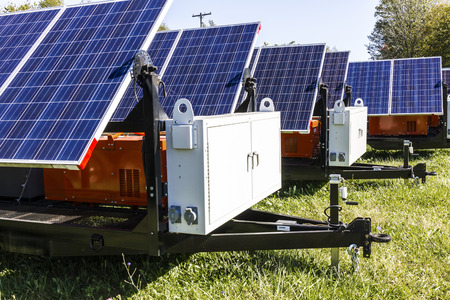 Mobile Photovoltaic Solar Panels on trailers. The ultimate in portable and emergency power, each unit is also equipped with a generator III