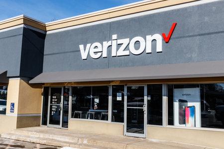 Muncie - Circa January 2018: Verizon Wireless Retail Location. Verizon is One of the Largest Technology Companies Editorial