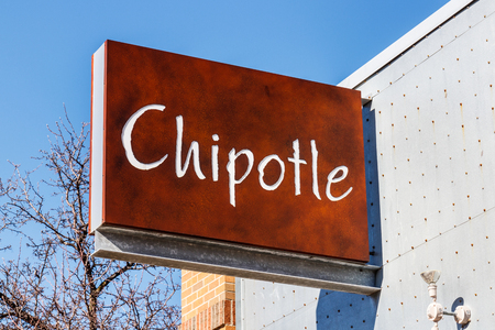 Lafayette - Circa February 2018: Chipotle Mexican Grill Restaurant. Chipotle is a Chain of Burrito Fast-Food Restaurants II