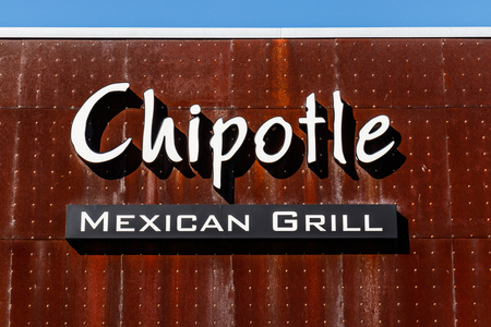Lafayette - Circa February 2018: Chipotle Mexican Grill Restaurant. Chipotle is a Chain of Burrito Fast-Food Restaurants III