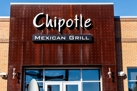 Lafayette - Circa February 2018: Chipotle Mexican Grill Restaurant. Chipotle is a Chain of Burrito Fast-Food Restaurants I