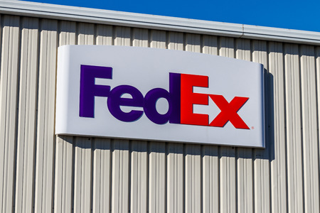 Lafayette - Circa February 2018: Federal Express Signage and Logo at a customer ship location. FedEx is a Worldwide Delivery Company I Editorial
