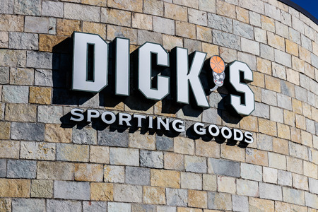 Indianapolis - Circa March 2018: Dick's Sporting Goods Retail Location. Dick's Banned the Sale of Guns to People Under 21 I Editorial